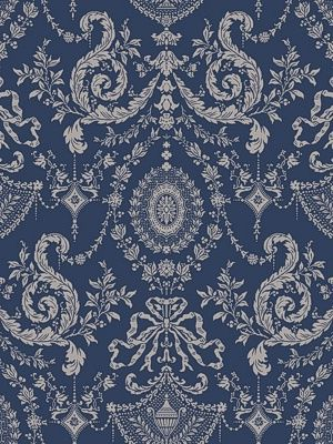 DecoratorsBest - Detail1 - CS 88/10043 - WOOLVERSTON BLUE - Wallpaper - DecoratorsBest