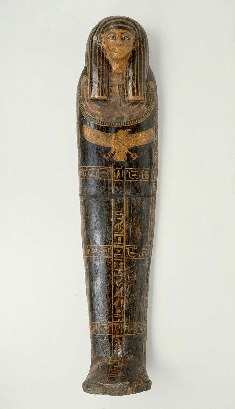 Painted wooden lid of anthropoid coffin. New Kingdom. 18th dynasty. 1550–1295 B.C. | Museum of Fine Arts, Boston