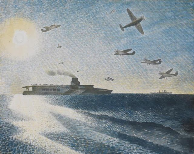 ART & ARTISTS: Eric Ravilious – part 2 / HMS Glorious in the Arctic 1940