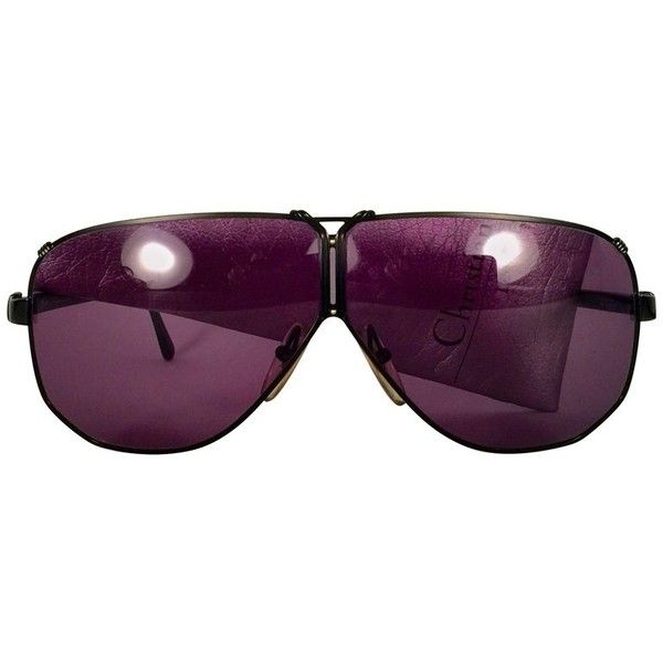838ff1be65a Preowned New Vintage Christian Dior 2502 Oversized Sunglasses 1980...  ( 449) ❤ liked on Polyvore featuring accessories