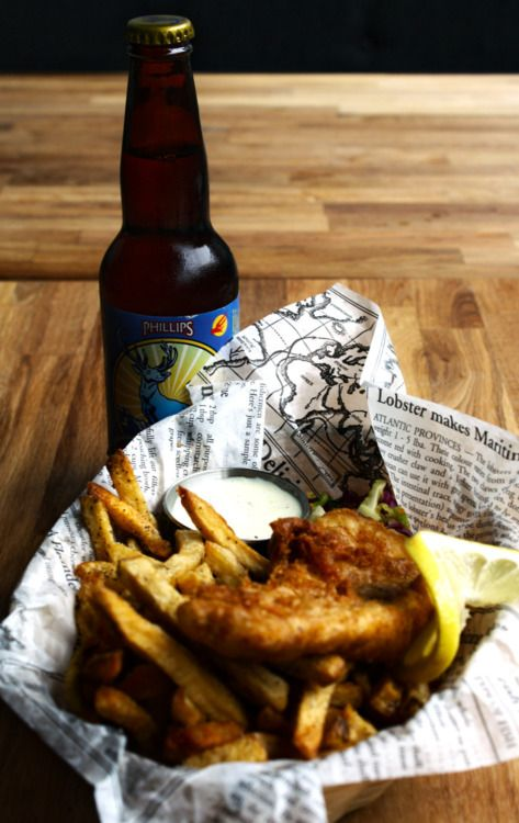 One of the perfect trifecta's. Fish & Chips & Beer.