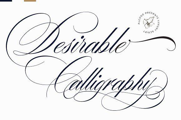Desirable Calligraphy Calligraphy Fonts Cursive Fonts Script