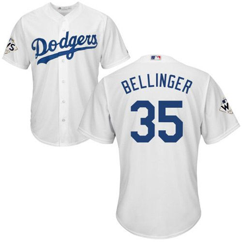 save off d1e23 9b328 Dodgers #35 Cody Bellinger White New Cool Base 2017 World ...
