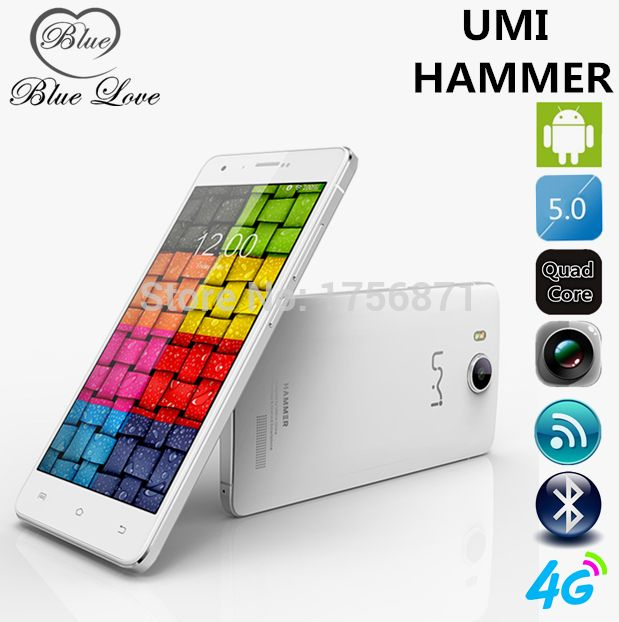 UMI Hammer MTK6732 Quad Core 4G LTE Cell Phone 5 inch HD Dual Glass Screen  2GB