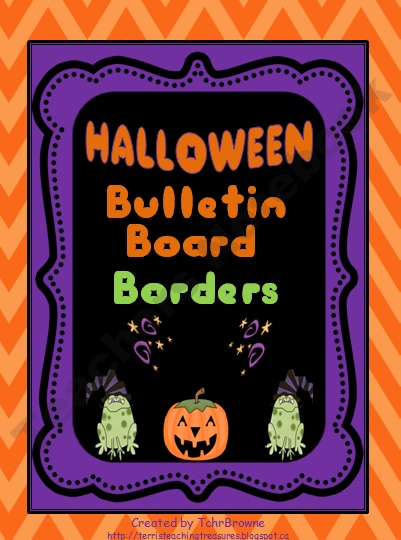 Halloween Bulletin Board Borders: Chevron inspired!!! ($ 1.50)