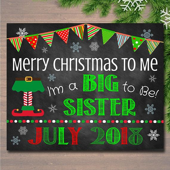 Christmas Big Sister Pregnancy Announcement Printable