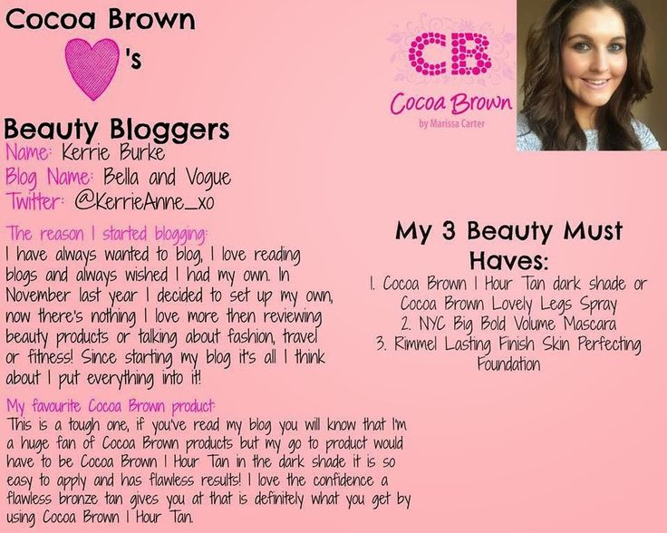 Bella and Vogue : Cocoa Brown Blogger Of The Week & Giveaway Time!!!