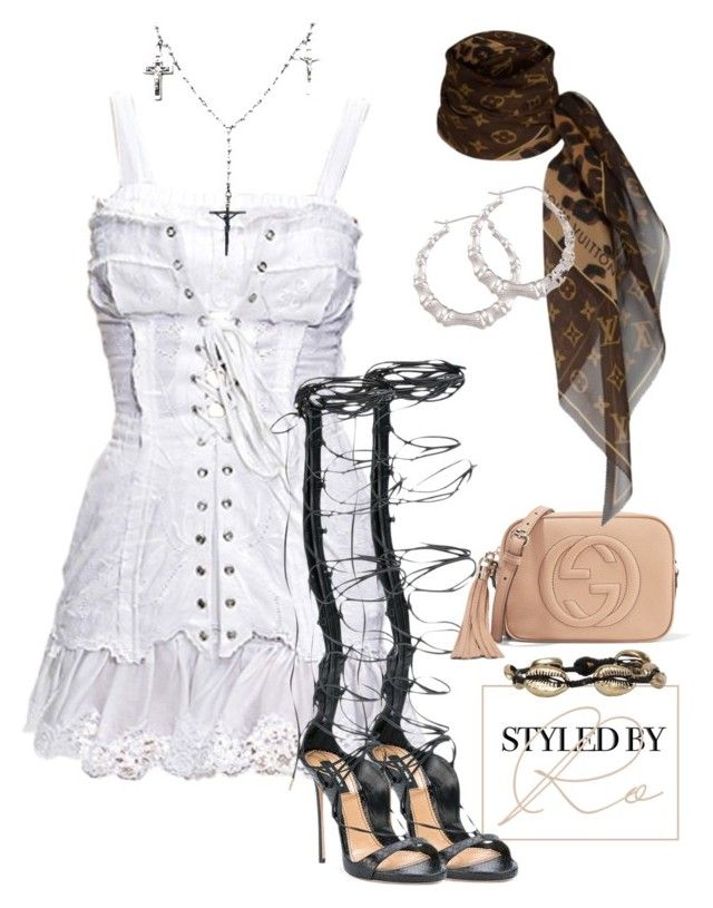 """#240"" by styledbyro ❤ liked on Polyvore featuring Dolce&Gabbana, Child Of Wild, Dsquared2, Gucci, Louis Vuitton and Cocobelle"