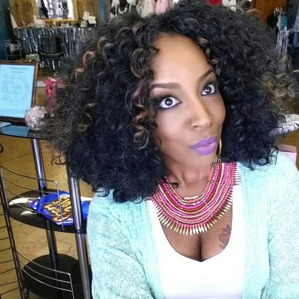 Crochet Hair Curl : Gogo curl bushed out for fullness , using 4 packs . crochet braids ...