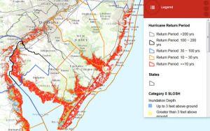 Flood Plain Map of the NJ Philadelphia region
