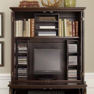 home styles bermuda espresso compact computer cabinet and hutch computer armoires at hayneedle