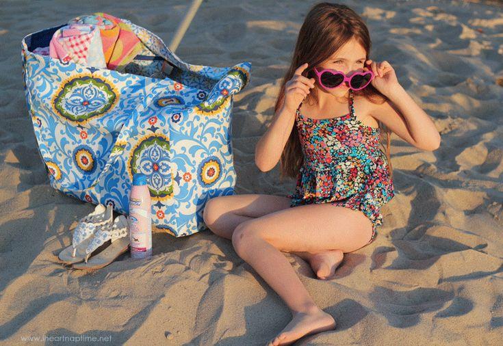Oversized Beach Bag Tutorial