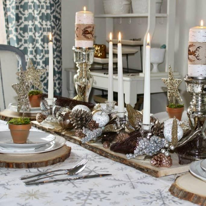22 Clever Holiday Home Ideas For Every Celebration Ideas For The Home Christmas Table Decorations Holiday Centerpieces Table Decorations