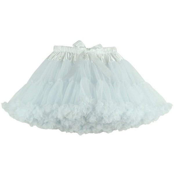 Jusian Women's Tutu Lolita Pettiskirt Dancing Party Skirts One Size... (420 ARS) ❤ liked on Polyvore featuring skirts, going out skirts, white tutu skirt, white knee length skirt, knee length tutu skirt and white party skirt