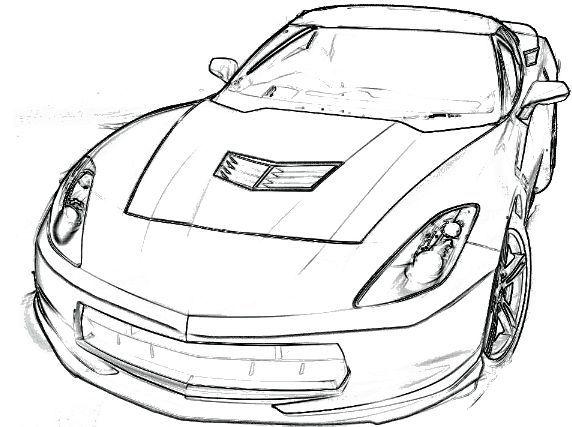 Corvette Stingray Coloring Page Corvette Car Coloring Pages Car Coloring Corvette Pag Cars Coloring Pages Corvette Stingray Coloring Pages