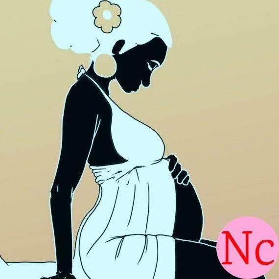 schwangere schwarze frau