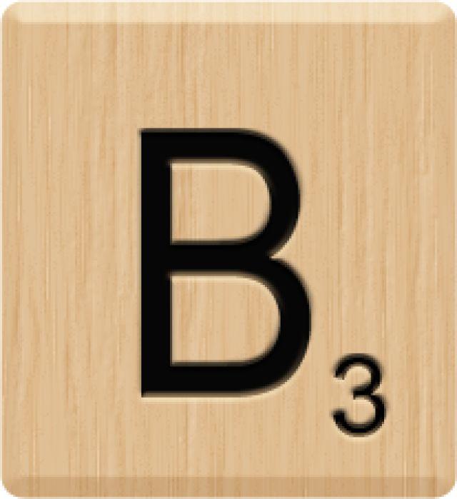 Scrabble letters b