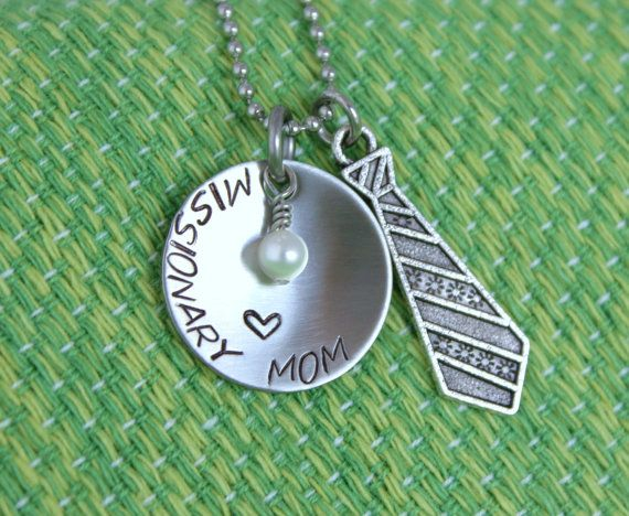 Missionary Mom Necklace  Elder  Mother's by mistyDserendipities, $20.00