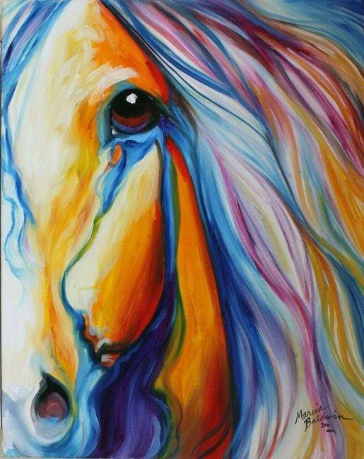 """""""MAJESTIC HORSE"""" by Marcia Baldwin, Shreveport, Louisiana // An original abstract oil painting by equine artist, Marcia Baldwin // Imagekind.com -- Buy stunning, museum-quality fine art prints, framed prints, and canvas prints directly from independent working artists and photographers."""