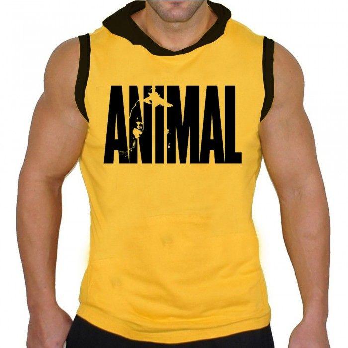 087743dbbb67a REGATA MACHÃO COM CAPUZ Animal Amarela - Regatas Com Capuz - Regatas ...