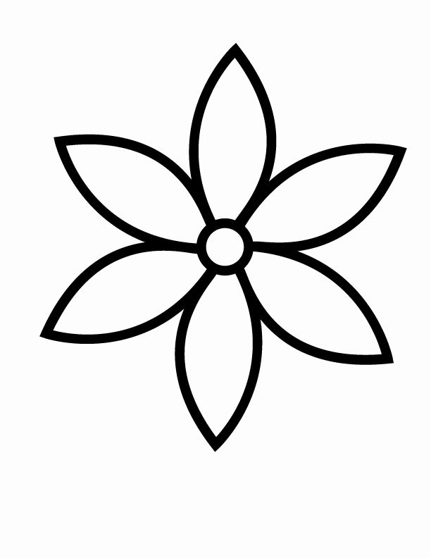 Flower Coloring Pages Simple Fresh Flowers Printable Coloring In Pages For Kids Number Flower Coloring Pages Flower Printable Flower Template