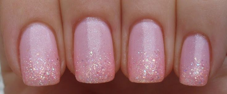 Nicole by OPI Kimpletely in Love w/ Sinful Colors Pinky Glitter sponged onto tips