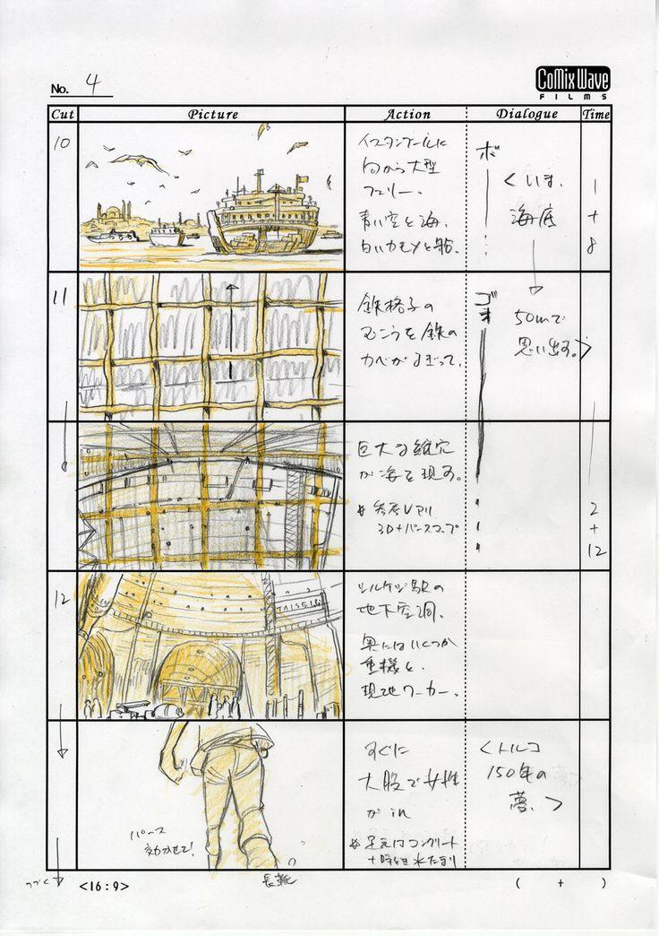 大成建設 CM アニメ 「ボスポラス海峡トンネル」篇-絵コンテ