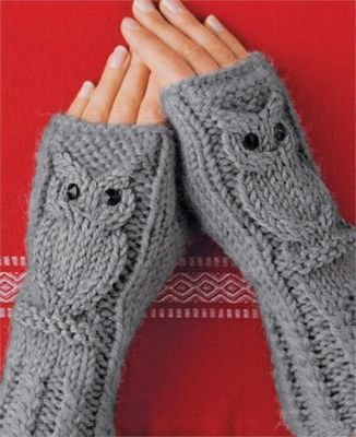 Knitting Arm Warmers – Simple DIY Tutorial for Owl Pattern