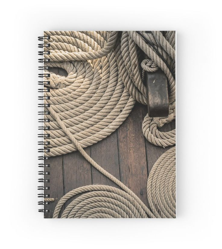 Coiled Dock Lines spiral notebook by Kelly McKee