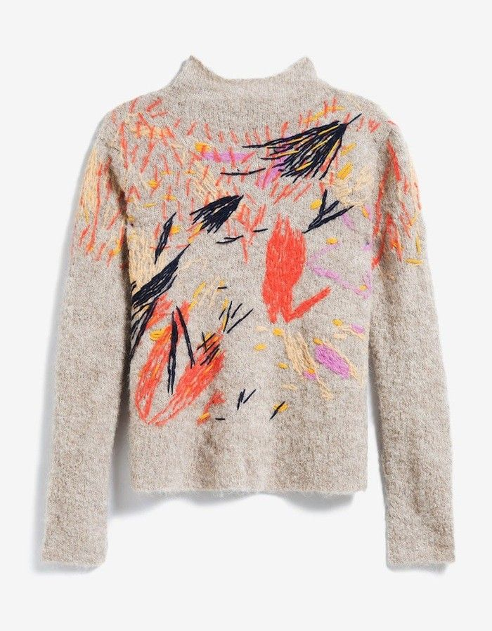 This Embroidered Sweater Is a Work of Art via @WhoWhatWearUK