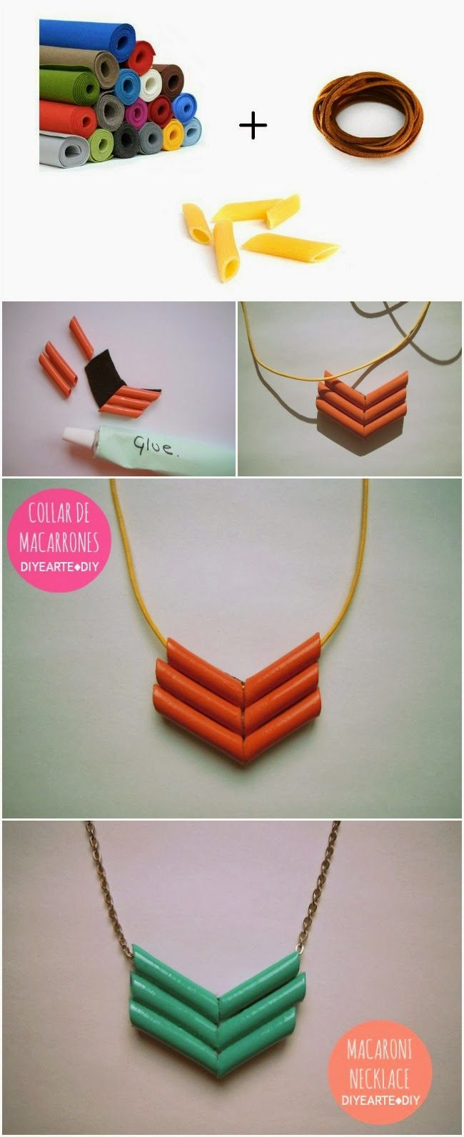COLLAR DE MACARRONES | MACARONI NECKLACE DIY