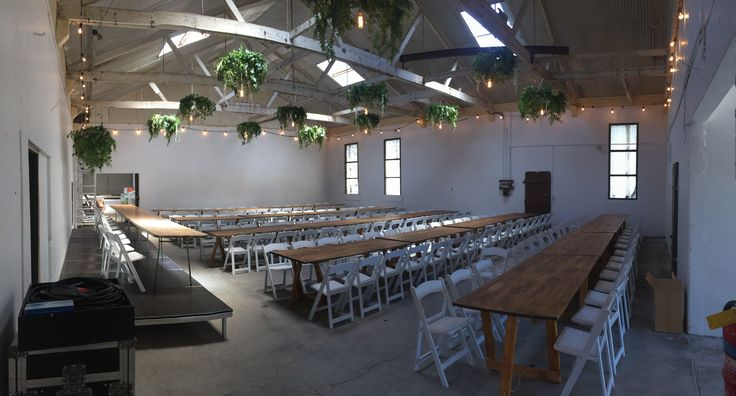 Turned an old dairy factory into an amazing reception venue! #festoons #edisonlamps #wedding