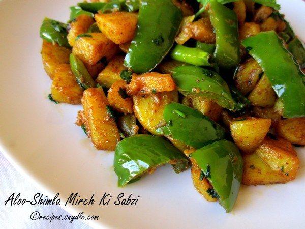 Sindhi-Style Potato-Capsicum Fry Recipe