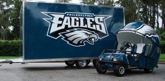 philadelphia eagles car flags