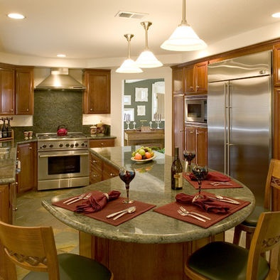 Kitchen Island Curved Design Design, Pictures, Remodel, Decor And Ideas