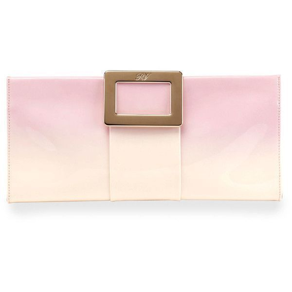 Roger Vivier Belle Vivier Patent Leather Clutch Bag (19.510 ARS) ❤ liked on Polyvore featuring bags, handbags, clutches, pink pattern, roger vivier, pink handbags, print handbags, pink patent purse and ombre handbags #rogervivierclutch #rogervivierhandbags #rogervivierbag