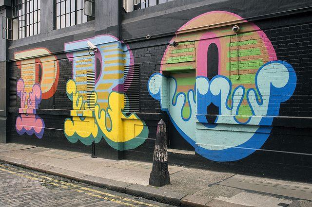Street Art in London with Ben Eine by Mathieu Lebreton, via Flickr