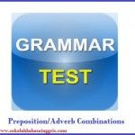 25 Questions Prepositions/ Adverb Combination With Clear, etc.