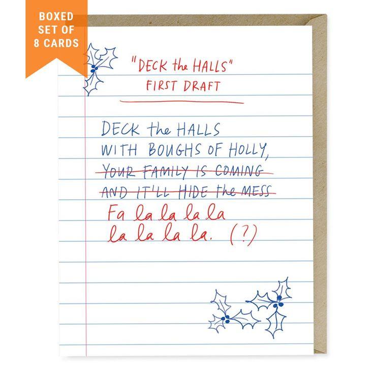 First Draft Lyrics Deck The Halls, Box Of 8