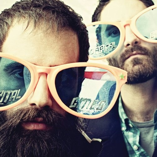 Capital Cities - I am IN LOVE with their song Safe And Sound. Their beards aren't bad either. :)