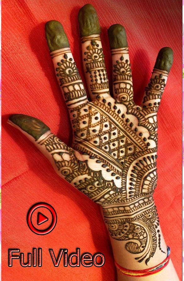 EASY Mehndi Full Hand Design For Weddings 2019 Watch Full