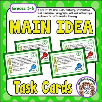 best topic sentences ideas teaching paragraphs  each of these main idea cards features a short informational text nonfiction passage to