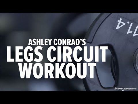 ▶ Ashley Conrad's High-Intensity Leg Circuit Workout - Bodybuilding.com - YouTube