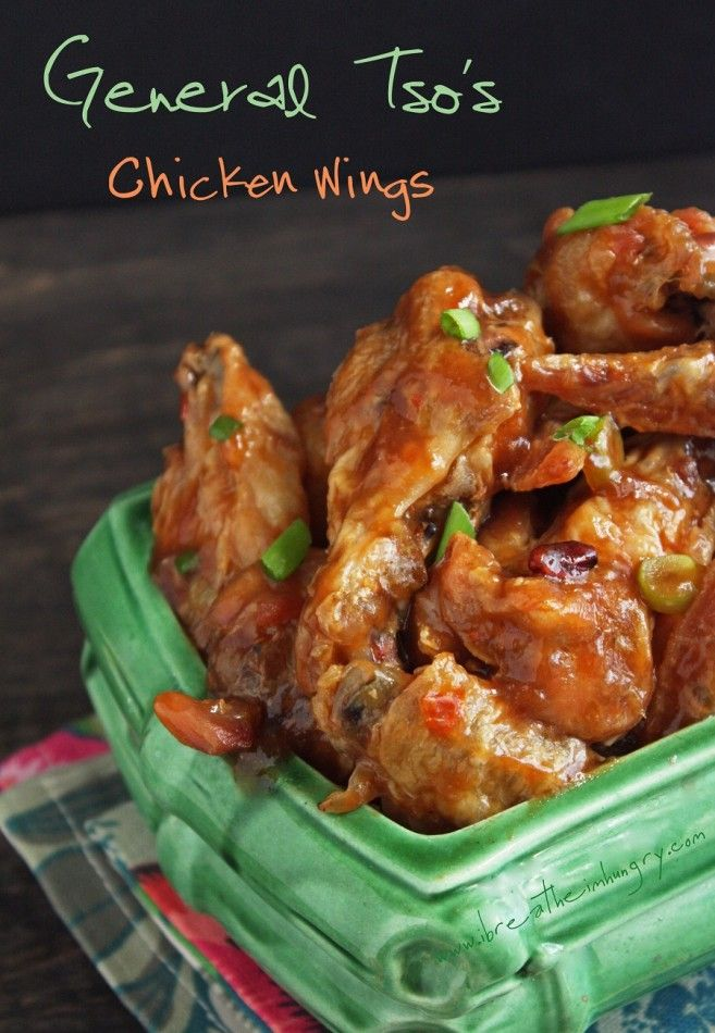 General Tsos Chicken Wings, Low carb and gluten free - ibreatheimhungry.com