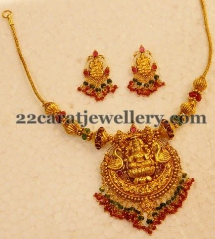 Wonderful Indian temple necklace set