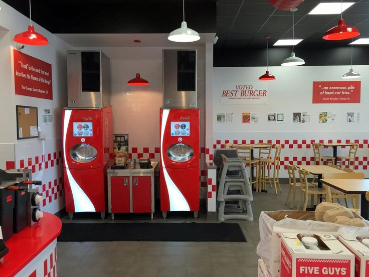 five guys Five guys burgers and fries is located off of richmond highway in front of mount vernon plaza the restaurant is a simple yet delectable burger joint serving mouth-watering burgers, fries, hot dogs and sandwiches.