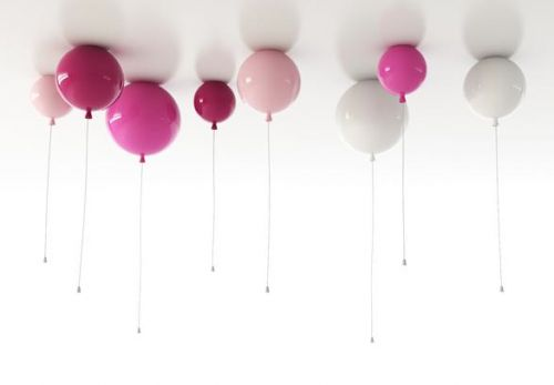 Memory by Boris Klimek - Balloon ceiling lights.. Switch on with the