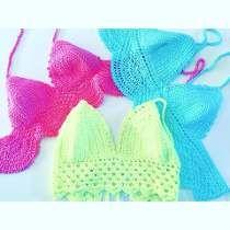 Top Crop Bikinis Tejidos Al Crochet 2015-16