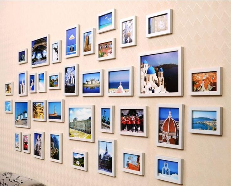 multi photo frame different sizes - Google Search | Walls ...