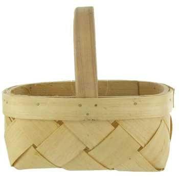 "1 Quart - 5"" Tall Diamond Weave Basket"